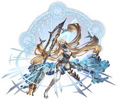 View an image titled 'Ejaeli, Battle Art' in our Granblue Fantasy art gallery featuring official character designs, concept art, and promo pictures. Female Character Design, Character Concept, Character Art, Concept Art, Fantasy Warrior, Fantasy Girl, Granblue Fantasy Characters, Ancient Egyptian Art, Anime Oc