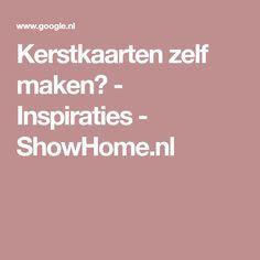 Kerstkaarten zelf maken? - Inspiraties - ShowHome.nl