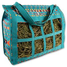 Classic Equine Top Load Hay Bag Teal Southwest $37