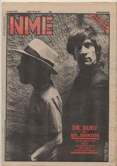 Ian Dury with Wilko Johnson.
