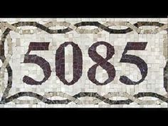 Mosaic Tile, House Numbers