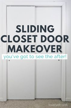 After hating our sliding closet doors for years, I finally did something about them! Today I'm sharing my gorgeous sliding closet door makeover along with everything you need to know to convert your sliding closet doors into hinged doors. Bedroom Decor On A Budget, Diy Home Decor, Closet Door Makeover, Sliding Closet Doors, Master Closet, Need To Know, Something To Do, Envy, Diy Ideas