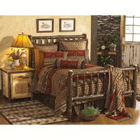 Hickory Traditional Log  Beds