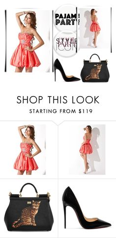 """Watermelon A Line Sweetheart Short Mini Princess Taffeta Homecoming Dress Ruffle Beading HD000266"" by harrydress on Polyvore featuring Dolce&Gabbana and Christian Louboutin"