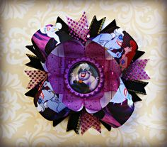 Ursula inspired stacked layered hair bow by UnderTheSeaBowtique