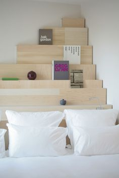 This headboard concept ( from Le Citizen hotel in Paris) is fantastic