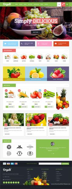 Organ is a wonderful 2in1 responsive #HTML bootstrap template for #organic store or flower shop #eCommerce website download now➩ https://themeforest.net/item/organ-ecommerce-multipurpose-html5-template/19455236?ref=Datasata