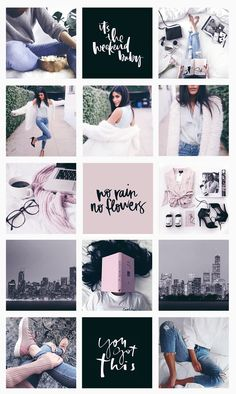 Pretty fashion blogger tumblr street style cute girlie cool tidy organized Instagram feed | Direção de arte para instagram ⋆ Pashion Studio
