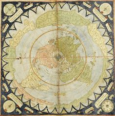 Flat Earth old map by waney1