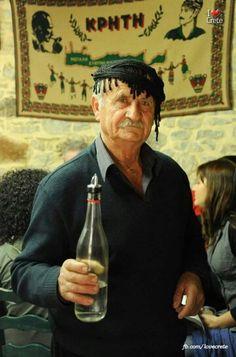 Tsikoudia - Raki, traditional Cretan drink for everybody, Hellas (Greece) Crete Greece, Santorini Greece, Athens Greece, Crete Island, Greek Culture, Greek Life, Portraits, Greek Islands, Greece Travel