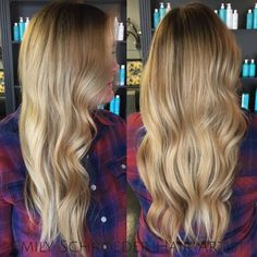 Balayage bombshell! Golden blonde for the fall.  Hair by Emily Schroeder. American Board Certified Haircolorist currently taking new clients in Little Rock, Arkansas at Tease Salon. Text/call 501-425-5108 for bookings