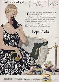 PUBLICIDAD ANUNCIO REFRESCO PEPSI COLA PEPSICOLA AÑO 1955