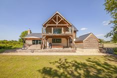 Timber framed dream home in Worcestershire exceeds couple's expectations Oak Framed Buildings, Oak Frame House, Victorian Cottage, Unusual Homes, Planning Permission, Garden Buildings, Oak Doors, New Property, Open Plan Kitchen
