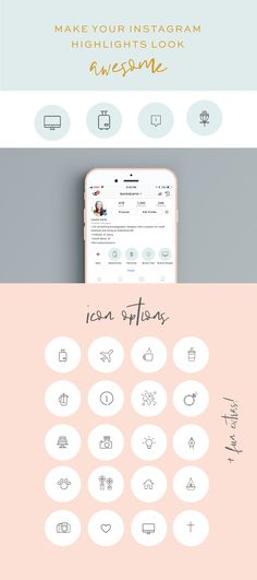 what's included? 25+ beautiful icons that match your biz & story topics easy-to-use Photoshop templates a how-to video a finished set of icons in case you are in a hurry! Make your Insta prettier--it's quick and simple! (How to Edit Video Included)
