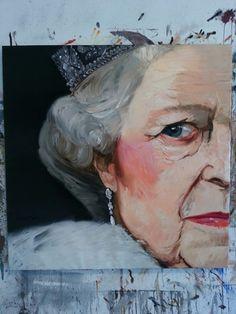 .Queen 120 x 120 cm oil/linen2014