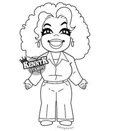 """The Big O"" African American TV celebrity paper crafts card making digi stamp by KennyK Stamps"
