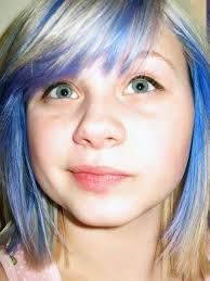 short blonde hair blue tips - Google Search