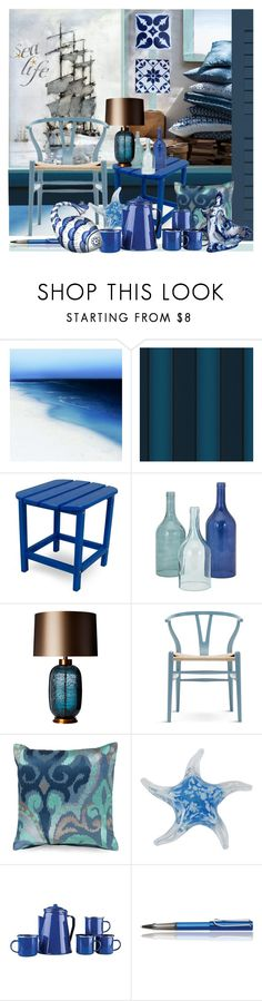 """Sea Life"" by nicolevalents ❤ liked on Polyvore featuring interior, interiors, interior design, home, home decor, interior decorating, Barclay Butera, Versace, Heathfield & Co. and Carl Hansen & Sons"