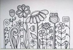 Flower doodle patterns doodle art, drawings y doodles Doodle Patterns, Zentangle Patterns, Embroidery Patterns, Hand Embroidery, Doodle Designs, Flower Embroidery, Doodles Zentangles, Doodling Art, Coloring Books