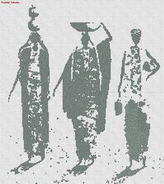 Africanas en punto cruz