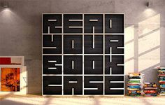 a bookshelf and typography. what's more to love?