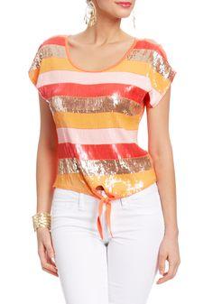 sequins + stripes. love!