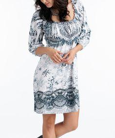Gray Cyndi Dress - Women by Rancho Estancia   a0a9a6ee2