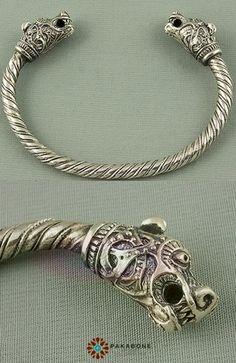 Viking Bracelet With Animal Heads, Sterling Silver 925.  https://www.etsy.com/uk/listing/251685580/viking-bracelet-with-animal-headed?ref=shop_home_active_12