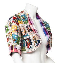 "Items similar to S Alexander Henry Pattern ""Skeleton"" Bolero Jacket on Etsy Dog Jumpers, Alexander Henry, Blue Camo, Bolero Jacket, Skeleton, My Etsy Shop, Blazer, Yellow, Pattern"