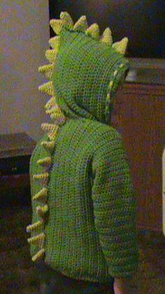 Crochet World June 2009 has this  Dinosaur Hoodie Pattern Cute project-PattiJo's Jacob's Dino Sweater