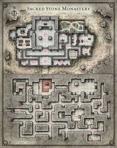 Sacred Stone Monastery Here's one of the new maps from the recent release of my…