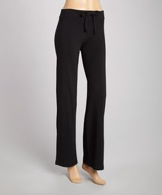 Love this Black Organic Lounge Pants on #zulily! #zulilyfinds