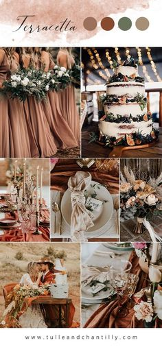 Top 8 Wedding Colors for 2020 Trends with Bridesmaid Dresses Brown Wedding Themes, June Wedding Colors, Popular Wedding Colors, Autumn Wedding Colors, Rustic Wedding Colors, Wedding Color Pallet, Wedding Color Schemes, Wedding Color Combinations, Color Combos