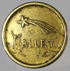 Halley's Comet token from South America, found in Uruguay, 1910