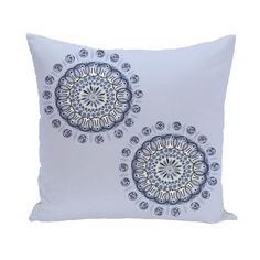 Decorative Outdoor Dual Geometric Burst 20-inch Pillow