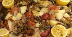Feed Your Flair For Flavor With This Lemon, Rosemary, And Mushroom-Chicken-Potato Bake