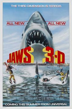 """Jaws 3-D (1983) when and why did Hollywood stop promoting their films with """"painting"""" posters?"""