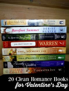 Sharing 20 Clean Romance Books I reviewed in the past which are perfect for Valentine's Day.