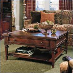 Stanley Furniture Villa Antica Square Cherry Coffee Table