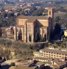 Siena (Italia) - Basilica di San Domenico - Vista dalla Torre del Mangia