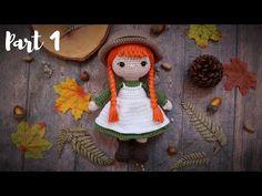 ANNE | PART 1 | HEAD, ARMS, BOOTS & LEGS | HOW TO CROCHET | AMIGURUMI TUTORIAL - YouTube Amigurumi Tutorial, Free Pattern, Arms, Crochet Hats, Mandala, Dolls, Christmas Ornaments, Sewing, Doll Stuff