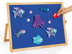 Storytelling props (sold separately) adhere to the brushed cloth surface of our top-quality Tabletop Storytelling Board—helping children bring favorite tales to life!