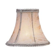 Chandelier Shade Taupe Bell Clip Shade (S218). Taupe Bell Clip Shade - Chandelier Shade - 3 T x 6 B x 5 S. Product Specifications Collection Name andnbsp Chandelier Shade Prduct Features andnbsp Taupe Floral Print Bell Clip Shade with Fancy Trim Dimensions andnbsp 3 T x.. . See More Lighting Shades at http://www.ourgreatshop.com/Lighting-Shades-C1006.aspx