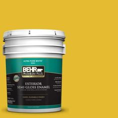 BEHR Premium Plus 5-gal. #T11-11 Lizard Breath Semi-Gloss Enamel Exterior Paint-534005 - The Home Depot