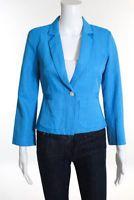 Elizabeth and James Blue Collared Long Sleeve Blazer Jacket Size 2