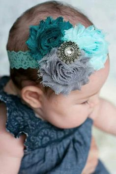 10 Cute Headbands for Baby Girls 2015 Lace Headbands, Diy Headband, Baby Girl Headbands, Baby Bows, Baby Turban, Shabby Flowers, Fabric Flowers, Baby Crafts, My Baby Girl