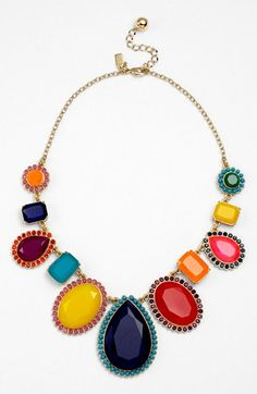 framed stone statement necklace
