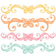 Butterfly Flourishes SVG scrapbook cut file cute clipart files for silhouette cricut pazzles free svgs free svg cuts cute cut files