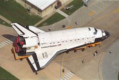 The Atlantis on the way to the vehicle assembly building for mating to the external tank. #spaceshuttle #nasa