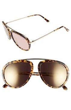 de39e38ca7f8e TOM FORD Designer  Stacy  57mm Aviator Sunglasses